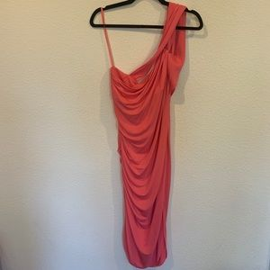 New Halston heritage coral semi formal dress